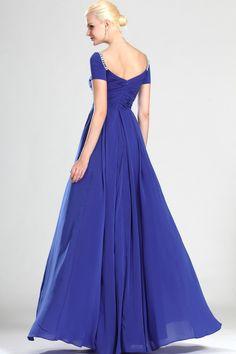 Modest Prom Dress : Modest Prom Dress Cap Sleeves Floor Length