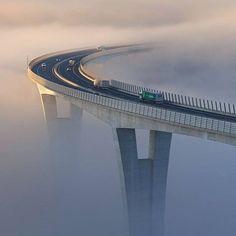 bridge in the fog or in clouds?!?