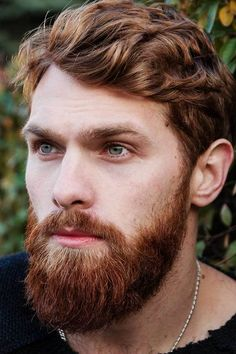 Inspirational Ideas On Hair And Full Beard Styles Combinations Stubble Beard, Red Beard, Ginger Beard, Ginger Men, Beard Styles For Men, Hair And Beard Styles, Hair Styles, Paul Mccartney Beard, Growing A Full Beard