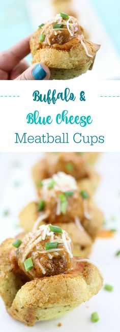 Click the image now to get this Buffalo Blue Cheese Meatball Cups Made in the Slow Cooker now. via @dawnchats #AD