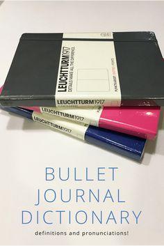 'Bullet Journal Glossary...!' (via Productive & Pretty)