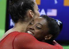 Simone Biles, Aly Raisman Finish 1-2 in Rio Olympics Women's All-Around
