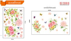 ขนาดสติ๊กเกอร์ดอกไม้สีชมพู Butterfly Wall Stickers, Pink Flowers, Home Decor, Art, Art Background, Decoration Home, Room Decor, Kunst, Performing Arts