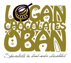 The best chocolates in Oban! Logo designed by Duncan Lamont.