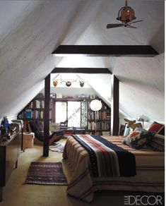 I always wished that I had an attic like this when I was a kid so it could be MY room :~)