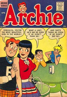 Archie's Pals 'n' Gals — April 1959 I like this art style compared to the other Archie comics. Archie Comic Books, Old Comic Books, Comic Book Covers, Archie Comics Strips, Comics Vintage, Old Comics, Funny Comics, Classic Cartoon Characters, Classic Cartoons