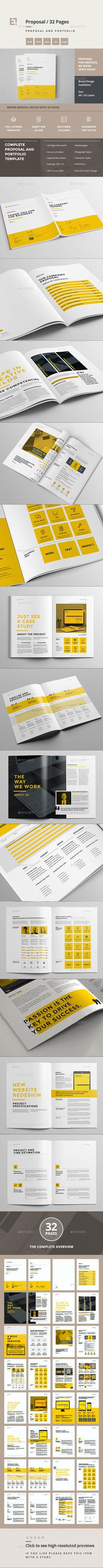Minimal and Professional Proposal Brochure template for creative businesses, created in Adobe InDesign, Microsoft Word and Apple Pages in International DIN A4 and US Letter format