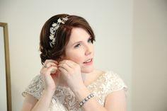 pretty elegant bride in Suffolk wedding