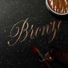 New Ink @finetec  Got it @papertree_official Handmade Pen @taki_crafts  #lettering #calligraphy #handlettering #customlettering #goodtype #typespire #thedailytype #handtype #handmadefont #calligritype #typegang #art #design #drawing #handdrawn #handwritten #letters #bronze #handmade #レタリング #カリグラフィー #アート #デザイン #書
