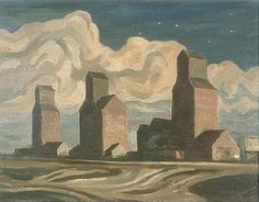 Jackson, Alexander Young - Elevators at Night, Pincher Creek -group of seven 1947