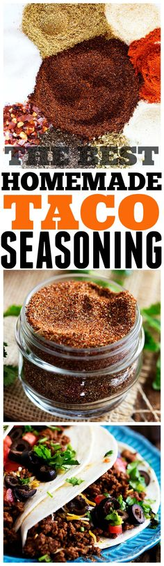 The Best Homemade Taco Seasoning - Perfect amount of spices and you will never buy it again! The Best Homemade Taco Seasoning - Perfect amount of spices and you will never buy it again! Mexican Food Recipes, New Recipes, Cooking Recipes, Favorite Recipes, Healthy Recipes, Jamaican Recipes, Smoker Recipes, Milk Recipes, Turkey Recipes