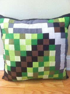 Minecraft Inspired Iron Pickaxe Throw Pillow by CraftyCreepers, $35.00