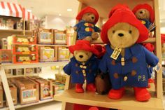 All ready for Christmas. Everyone's favourite bear has his wellington boots on, just waiting for snow!