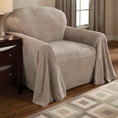 Innovative Textile Solutions Coral Fleece Furniture Throw 70X90, Beige