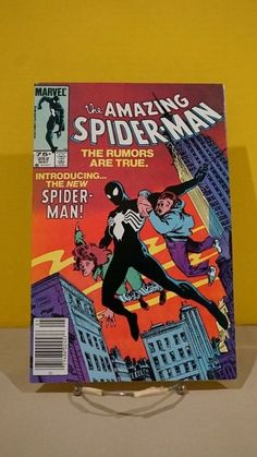 Amazing Spiderman 252 Comic Book, VF/NM Marvel Comics, Symbiote, by on Etsy Spiderman Venom, All Spiderman, Spiderman Comic Books, Comic Books Art, Comic Art, Hulk Comic, Marvel Venom, Amazing Spiderman, Amazing Spider Man Comic