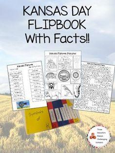 Kansas Day Symbol Flipbook W/ Facts! School Holiday Crafts, School Holidays, Kansas Day, Horse Shelter, Construction Paper, Homeschool Curriculum, After School, Teacher Newsletter, First Grade