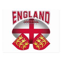 Rugby Ball Flag of England Postcard   #rugby #rugbyball #england #englishflag #tjssportsmania #postcard