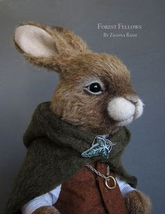Frodo Rabbit - Needle Felted http://www.flickr.com/photos/64573764@N02/8529860005/ This is amazing work!!!