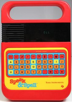 TEXAS INSTRUMENTS: 1978 Speak & Spell #Vintage #Toys #Games Just bought one at a thrift store for $2! My kids think it's so weird, lol!