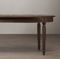 Vintage French Fluted-Leg Extension Dining Table