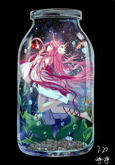 瓶子中的少女