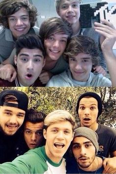 One Direction Selfies Then & Now