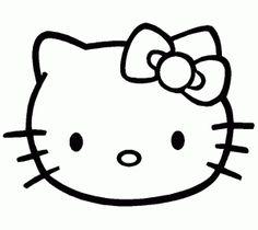 cara de hello kitty para imprimir