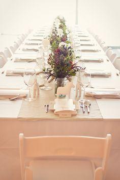 Beautiful table setting, a wedding at Mjölk.
