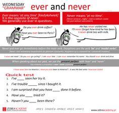 Wednesday Grammar | Ever and Never | Zebra Academy | Business English | Native Speaker | Warszawa | English Grammar
