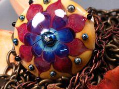 Summer Sun Kismet  - Handmade Lampwork Focal Bead By Sra Artist Payton Jett
