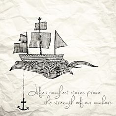 """Reminds me of the song """"The Anchor Holds"""". My dad used to sing it when I was little."""