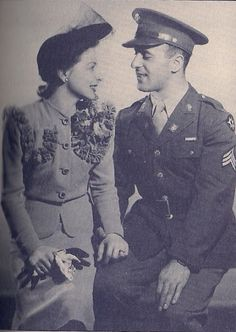 An officer and his wife during World War II.
