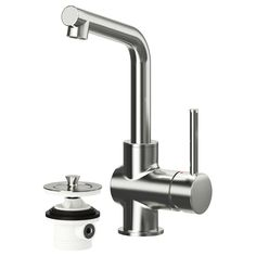 This is the faucet: good clearance plus smaller kids can reach the handle: LUNDSKÄR Bath faucet with strainer - IKEA