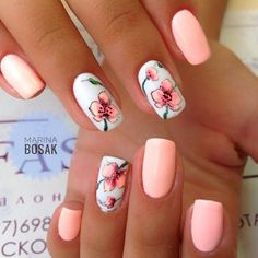 The 110 best Peach colored nails women beauty and make up Peach Colored Nails, Peach Nails, Perfect Nails, Gorgeous Nails, Pretty Nails, Spring Nails, Summer Nails, Vacation Nails, Toe Nail Designs