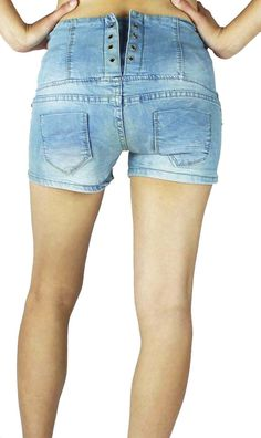 Very very short shorts, made from premium jeans with fun touch ...