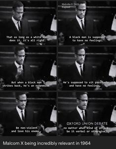 Malcom X quotes X Movies, Malcolm X, White Man, Movie Quotes, Black Men, Cinema, Feelings, Tv, Classic