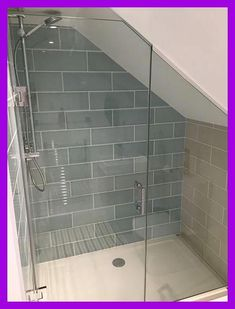 If you are looking for Small Attic Bathroom Design Ideas, You come to the right place. Below are the Small Attic Bathroom Design Ideas. Attic Shower, Small Attic Bathroom, Small Shower Room, Loft Bathroom, Bathroom Layout, Bathroom Interior, Bathroom Ideas, Bathroom Renovations, Bathroom Storage