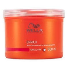 Enrich Moisturizing Treatment For Dry & Damaged Hair (Normal- Thick) - 500ml-16.7oz. -A moisture-rich treatment mask for dry & damaged hair-Formulated with silk extract & shea butter-Helps deeply hydrate, repair & shield hair without overloading it-Hair appears suppler, sleeker, shiner, healthier & more manageable-To use: Apply to shampooed hair, massage & leave in for 5 minutes. Rinse wellProduct Line: Hair CareProduct Size: 500ml/16.7oz