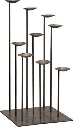 Set of 9 Mariel Floor Pillar Holders - modern - candles and candle holders - Crate&Barrel Floor Candle Holders, Lantern Candle Holders, Candle Holder Set, Candle Lanterns, Tea Light Holder, Pillar Candles, Candleholders, Candlesticks, Candle Stands