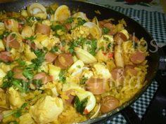 Cinco sentidos na cozinha: Paella à valenciana