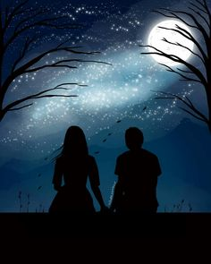✔ Drawing Couple Sketches Line Cute Couple Drawings, Cute Couple Art, Anime Couples Drawings, Love Drawings, Art Drawings, Shadow Painting, Night Sky Painting, Shadow Art, Fantasy Magic