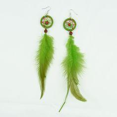 Green Bird Dream Earrings #Colorize #ColorizeFashion