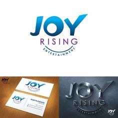 design an illustration that focus around the word JOY with RISING pushing the JOY upward by rayene