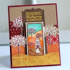 Thanksgiving Blessings Card by Betsy Veldman for Papertrey Ink (August 2012)