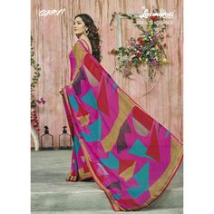 Get obsessed with the new ambit of the glamour with this magnificent saree. Shop this designer saree at attractive price Patiyala Suit, Latest Designer Sarees, Lehenga Saree, Casual Suit, Cat Party, Lace Border, Yellow Fashion, Printed Sarees, Party Wear Sarees