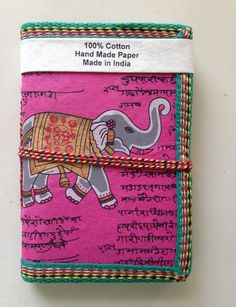 Indian Elephant Art Journal Fuchsia Pink by IndianJournals on Etsy