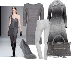 Grey for winter. #ColorTrends #Fashion #Style