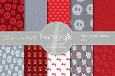 Love you to death Digital Scrapbook. Patterns. $3.00