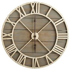 Why not show off your fabulous taste around the clock? Hang this rustic, hand-painted wood and wrought iron timepiece, and let it keep pace just like you do—stylishly.