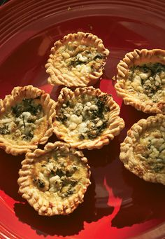 Callaloo and Cheddar Quiches | SAVEUR